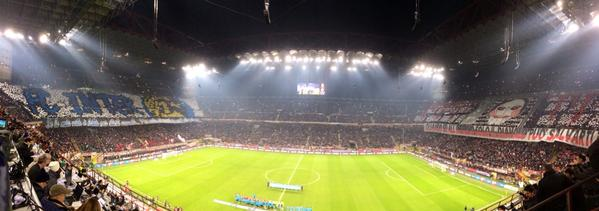 San Siro ahead of the Derby della Madonnina. (Picture: When Sunday Comes)
