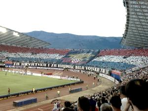 Hajduk Split's Torcida's at Stadion Poljud. (Creative Commons)